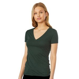 Bella + Canvas Ladies' Triblend Deep V-Neck T-Shirt