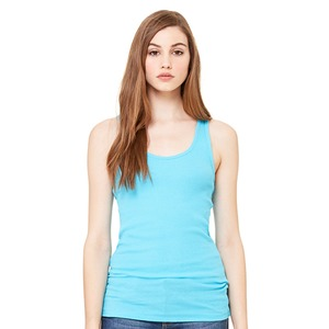 Bella + Canvas Ladies' 2×1 Rib Racerback Longer Length Tank