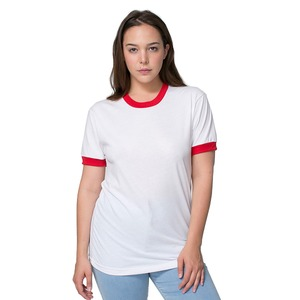 American Apparel Adult Unisex Poly-Cotton Short-Sleeve Ringer T-Shirt