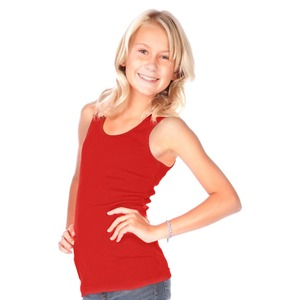 Girls Ribbed Tunic Tank