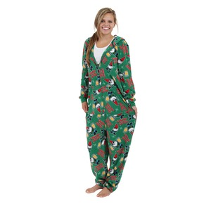 Boxercraft Holiday Gnome Hooded Adult Union Suit
