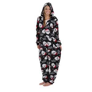 Boxercraft Holiday Santa Claws Hooded Adult Union Suit