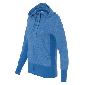 Independent Trading Co. Ladies' Baja Stripe French Terry Hooded Full-Zip Sweatshirt