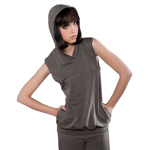 eco-HYBRID™ Spandex French Terry Sleeveless Hoodie
