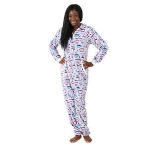Boxercraft Holiday Coffee Adult Hooded Union Suit