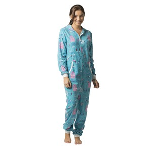 Boxercraft Holiday Owls Adult Hooded Union Suit