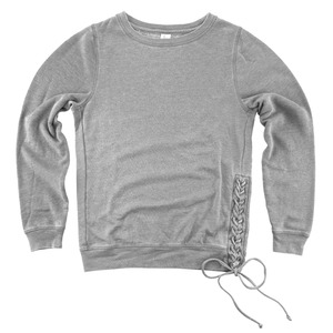 Ladies Rally Lace-Up Fashion Crewneck