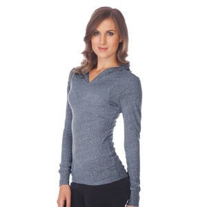 Ladies Snow Jersey Long Sleeve Pullover Hoodie Silicon Wash