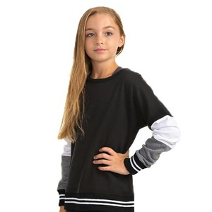 Girls Accent Fashion Crewneck