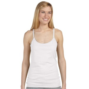 Studio Essentials Ladies Fine Rib Spaghetti Strap Tank