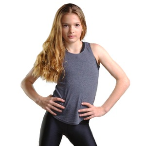 Studio Essentials Girls Fine Rib Racer Back Tank