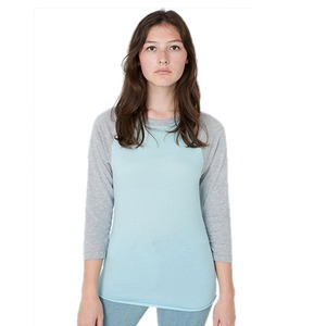 American Apparel Adult Unisex Poly-Cotton 3/4 Sleeve Raglan