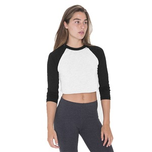 American Apparel Poly-Cotton Cropped 3/4 Sleeve Raglan