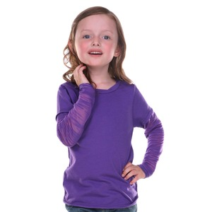 Little Girls 3-6X Raw Edge Two-Fer Burnout Long Sleeve