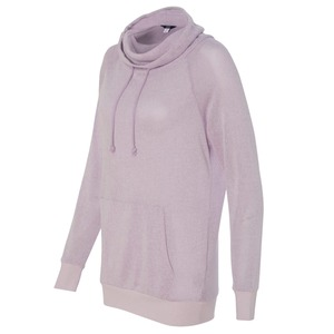 Ladies Aubrey Gauze Knit Funnel Neck Pullover