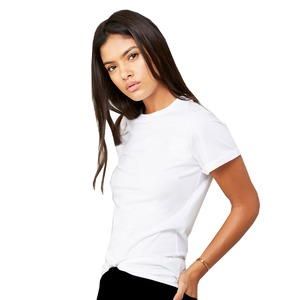 Bella Fast Fashion Unisex Jersey Rolled Cuff Tee