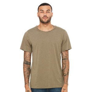 Bella Fast Fashion Unisex Triblend Raw Neck Tee