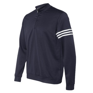 Adidas Golf ClimaLite 3-Stripes French Terry Quarter-Zip Pullover