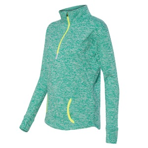 J. America Ladies' Cosmic Fleece Quarter-Zip Pullover