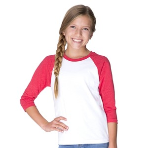 Next Level Youth Unisex CVC Three-Quarter Sleeve Raglan T-Shirt