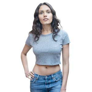 Royal Apparel Ladies' Eco Triblend Crop Tee