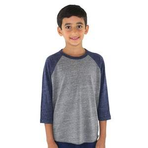 Royal Apparel Youth Unisex Triblend Raglan Baseball Shirt