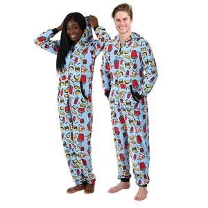 Boxercraft Holiday Junk Food Adult Hooded Union Suit