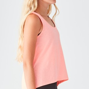 Girls Jersey Scoop Neck High Low Tank