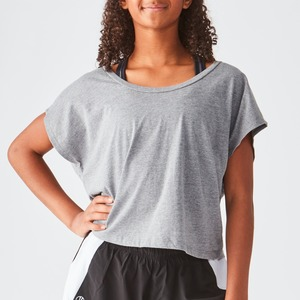 Ladies Jersey Boxy Crop Tee