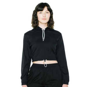 American Apparel Nylon Cropped Hoodie
