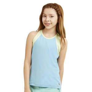 Girls High Neck Track Tank