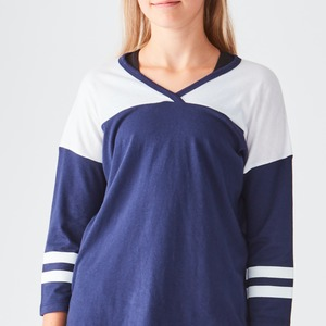 Girls Sporty Fashion Crew V-Neck
