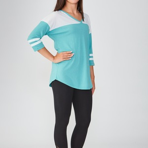Ladies Sporty Fashion Crew V-Neck