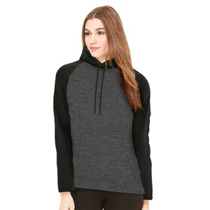 Adult Unisex Heather Fleece Two Tone Hooded Sweatshirt