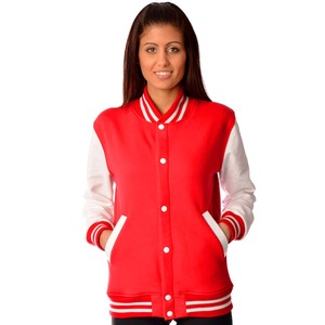 Studio Essentials Ladies Fleece Varsity Jacket