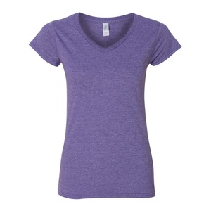 Soft Style Ladies' 7.5 oz./lin. yd. Fit V-Neck T-Shirt